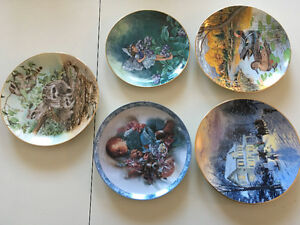 5 Collector plates selling as a group