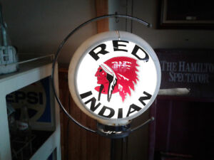 Red Indian gas pump globe