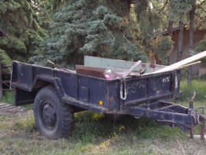 1950s Army trailer