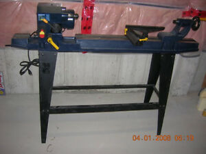 Woodworking lathe stand and turning tools. Asking $600 obo