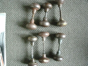 antique metal door knob sets