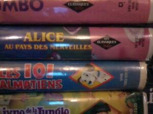 7 films vhs Walt Disney ( avec losange noir )