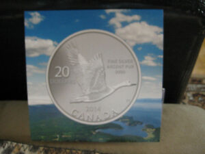 Sterling Silver Pure Silver Coin 99.99 $20 -  2014 y