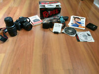 Canon digital rebel xs with 2 lens