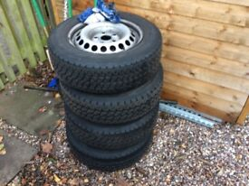 205 65 16 Vw t5 steel wheels with tyres x8 wheels