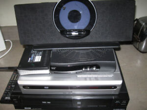 Lot of electronics-printer,dvd player,vcr,router etc-Lot $5