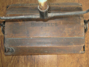 Antique Wooden Carpet Sweeper Bissel Universal