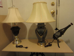For sale two bedside (table) lamps plus free bonus