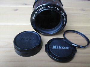 NIKON NIKKOR-C ZOOM 70-210mm 1:4-5.6, Macro AUTO FOCUS
