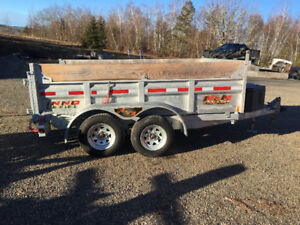 Used 6x10 Galvanized Dump trailer , Like New condition