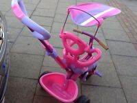 Kids trike bike with parents handle