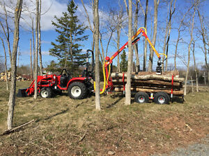 Branson Tractors and Kranman Log trailer combos from $329.52/m
