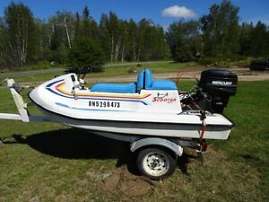Scooter Boat, Motor and Trailer for Sale