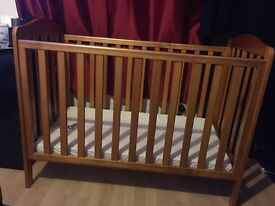Mother care cot with mattress