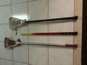 2 Gait Lacrosse sticks & extra shaft