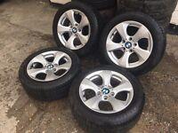 """GENUINE BMW 16"""" 1 series & 3 series ALLOYS w/Tyres - 205/55/16 - SLOUGH"""