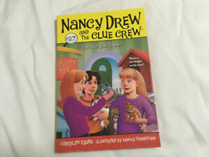 "Nancy Drew and the Clue Crew book #27 ""cat burglar caper"""