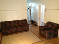 Sofa and armchair in excellent condition to give away!