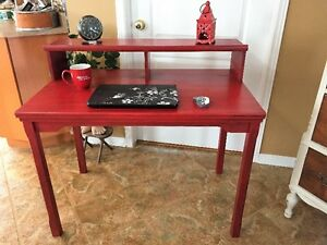 Chalk Painted Red Desk