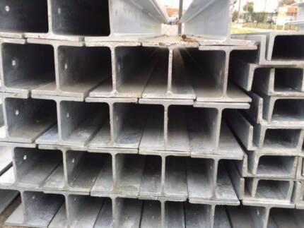 Galvanised steel H & C retaining wall/beam post