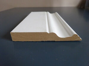 NEW Primed Fibreboard Base 5/8 In. x 4 In. baseboard moulding