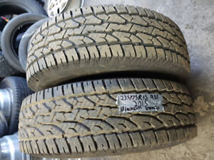 selling A set of two 235/75R15 all season BLACKLION tires