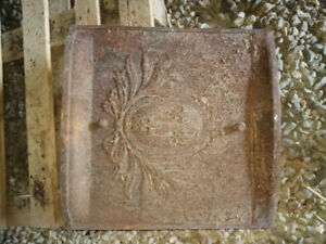 Antique Metal Fireplace Cover