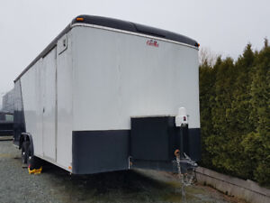 Like New 8.5 x 20' Cargo Mate Enclosed Trailer With Heat