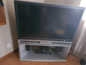TV and Stand with Remote