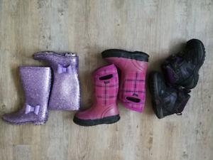 3 paires bottes fillette (grandeur 10-11) - BOGS, acton