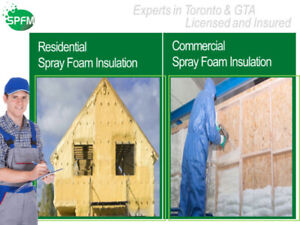 *SPRING SALE 25% off* Spray Foam Insulation in GTA