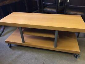 Modern beech effect tv unit : coffee table