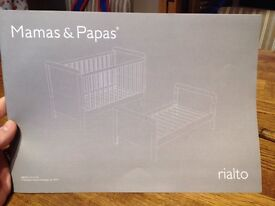 Mamas and Papas Rialto Cot/Toddler bed for sale