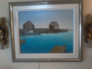 "26""×21"" oil painting signed Matheson 88"