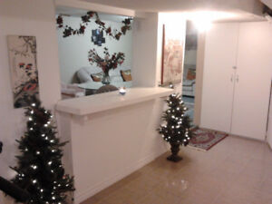 Beautiful Spacious 2 Bedroom Furnished Basement Apartment!