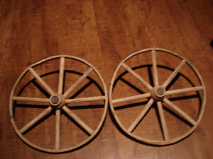 Authentic Wooden Wagon wheels 11 inches