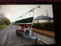 Sailing dingy BOAT SAILS TENDER TRAILER EXTRAS package