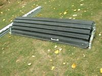 Overhead steel roll up door for garage, shed, shipping container