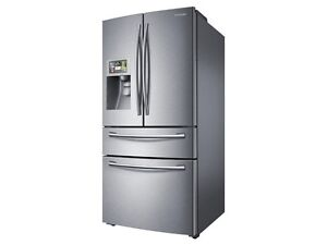 """Samsung stainless steel 36"""" fridge with LCD and WIFI"""