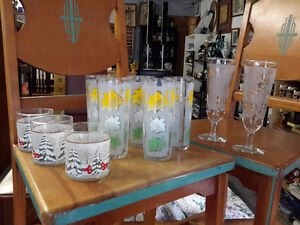 LOT  OF 10 1950'S GLASSES MID CENTURY ONLY $22.00