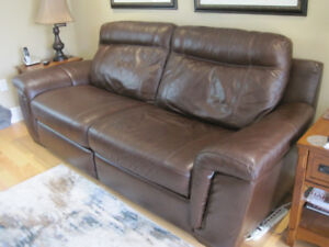 Real Leather Sofa from Cindy Crawford line