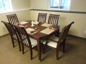 Dining Room Suite - Dark Cherry Finish