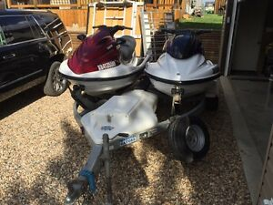 Pair of Yamaha Waverunners GP1200R XLT800 TRADES