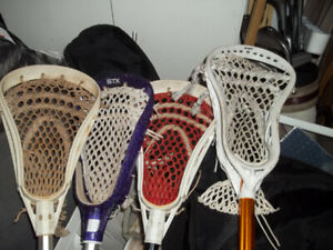 Lacrosse Sticks and Gloves