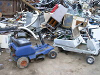 FREE PICKUP – GAS DRIVEN EQUIPMENT -  E-WASTE – SCRAP METAL