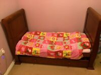 Bruin sleigh cot bed, wardrobe & changing table.