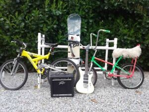bicycles, guitars and more