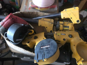 TWO Stanley-Bostitch Screwmatic/ Coil Fed Screw System & Drills