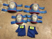 Child protective gear for biking or rollerblading