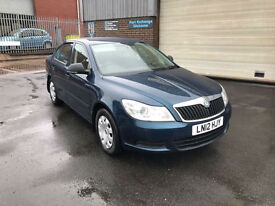 2012 SKODA OCTAVIA 1.6TDI CR S 105 BHP 5 DR HATCHBACK,ONLY 1 OWNER FROM NEW.